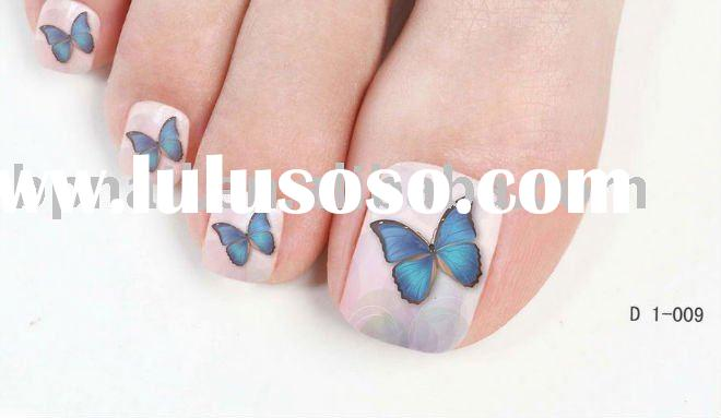 Art Nail Water-print Toe Sticker