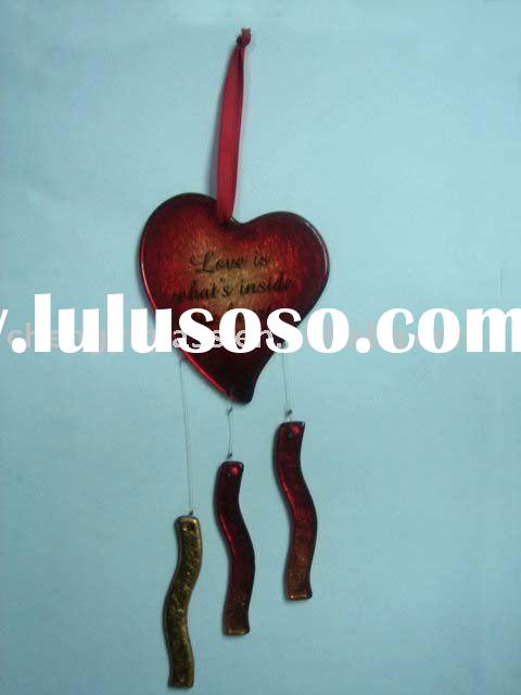 Beautiful Stained Glass love /valentines Hanging Ornament&wind chime