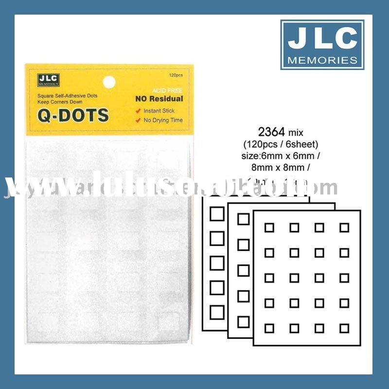 Clear adhesive dots