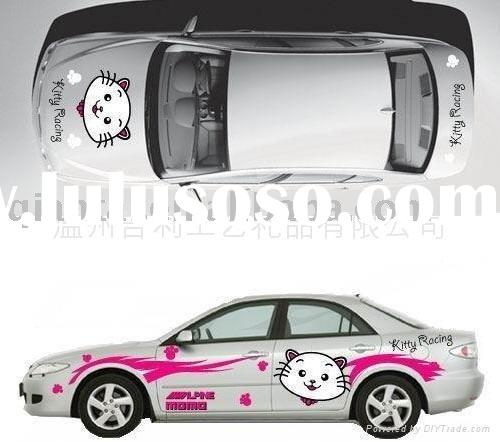 Customized pvc car sticker