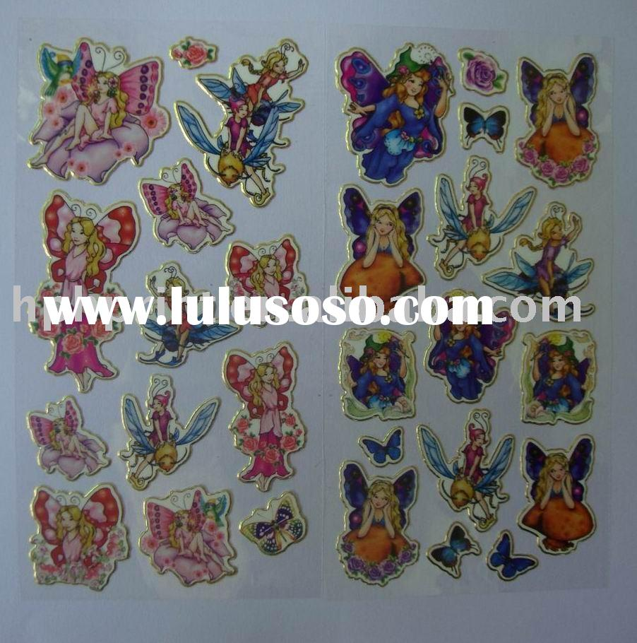 Cute Fairy Self-adhesive silver lines Foil Stickers