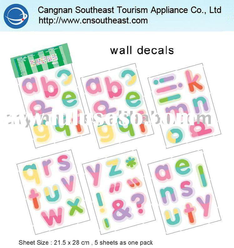 Funny alphabet baby room wall sticker