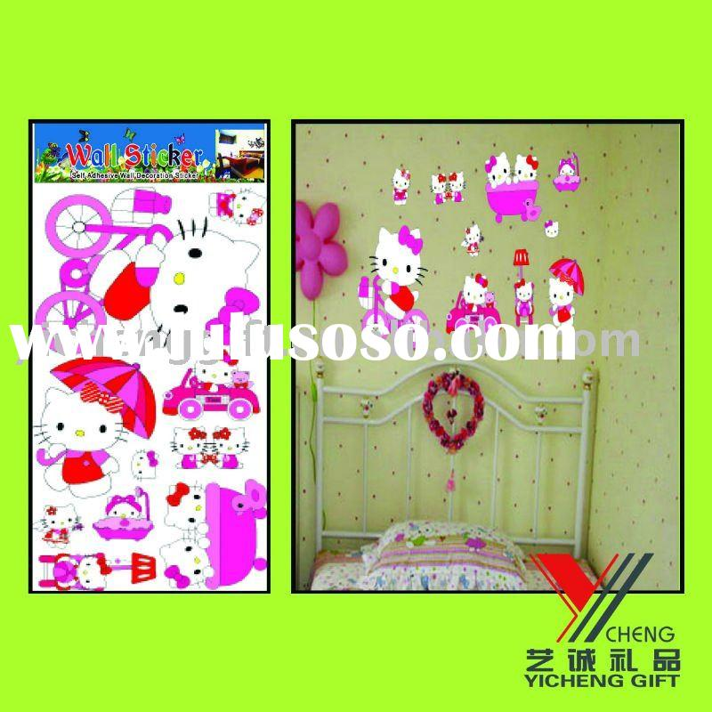Hello kitty removable wall sticker for kids room