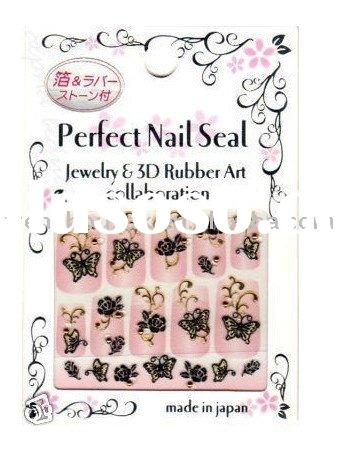 Japan Jewelry & 3D Rubber Nail Art Tip Sticker