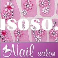 Jelly Pink Lovely Daisy 3D Nail Art Sticker Decals