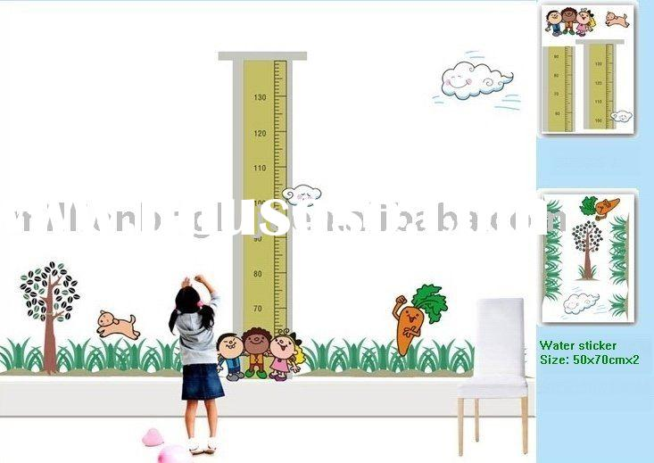 Kids height removable deco wall sticker JTW-1020