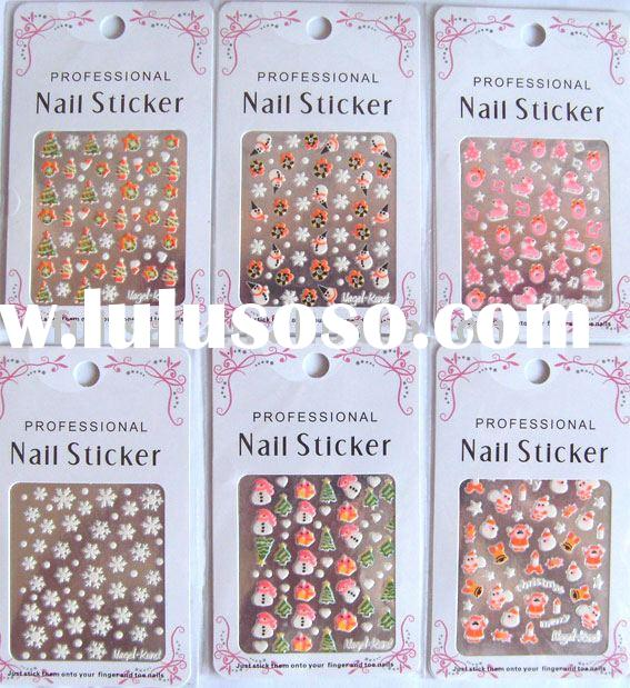 Nail sticker, Christmas Nail sticker, Nail art, nail decoration