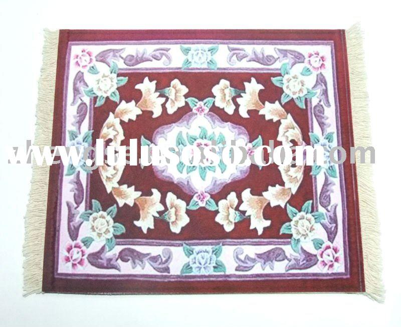 Promotional Rug Mouse Pad with Oriental rug design