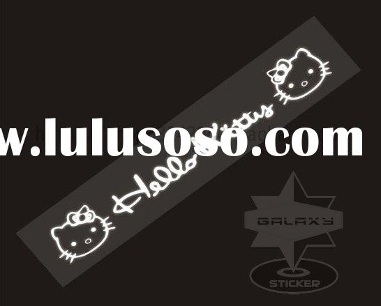 QD239 Hello Kitty Car/Auto Body Vinyl Graphic Reflective Neutral dshield Sticker
