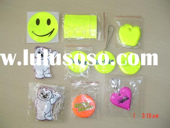 Reflective sticker, band, keychain and promotional items