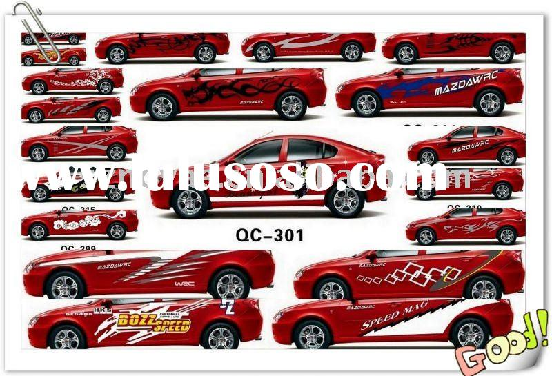 Removal PVC EL Car Body Sticker Design Removable
