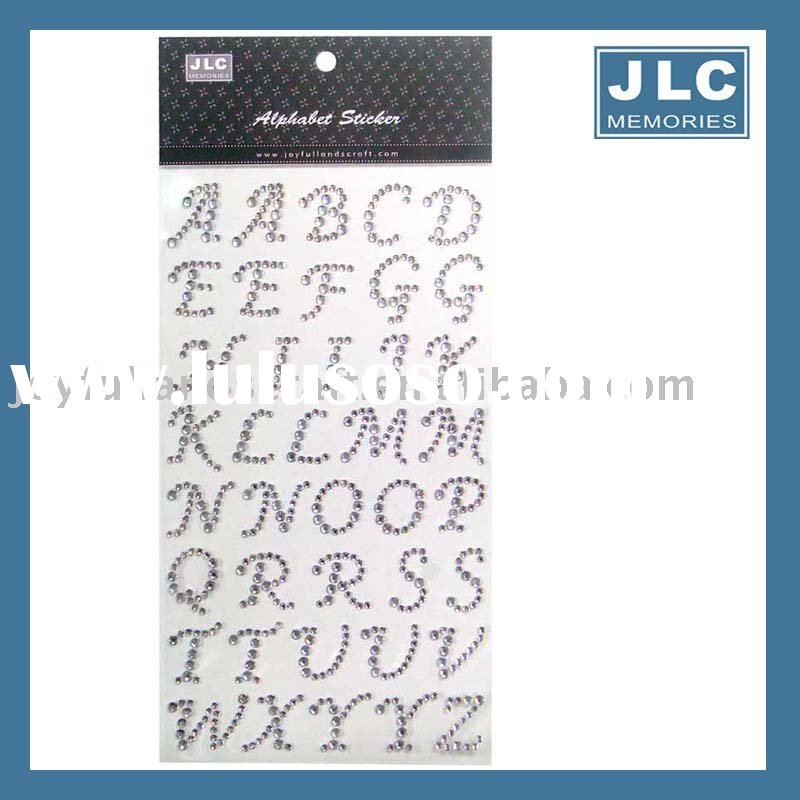 Rhinestone Alphabet stickers