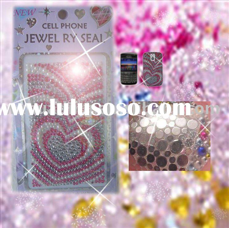 Rhinestone mobile /cell phone promotional stickers