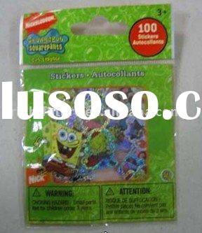 SPONGEBOB #1 DIE CUT STICKERS -POLYBAG