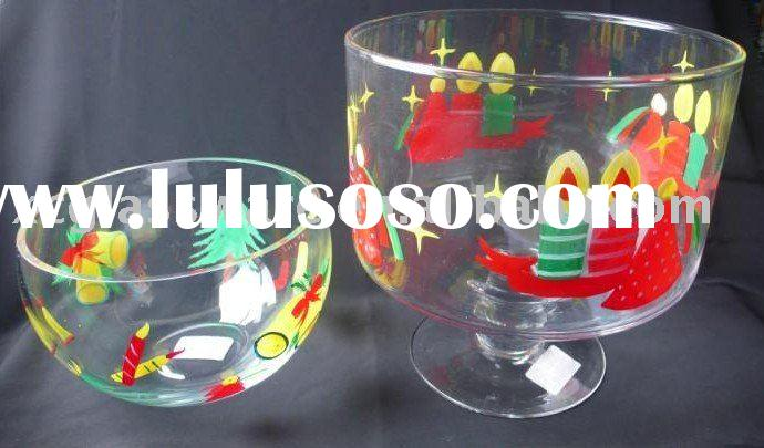 Solid clear Chrismas glassware glass bowl