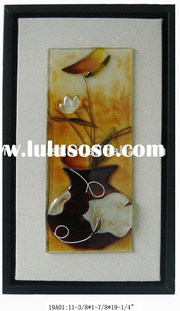 Stained Glass Vase Wall Decoration