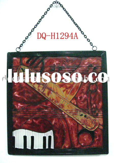 Stained glass hanging( wall decoration, handicraft, home decor)