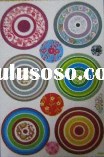 colourful circle attractive wall decoration wall sticker