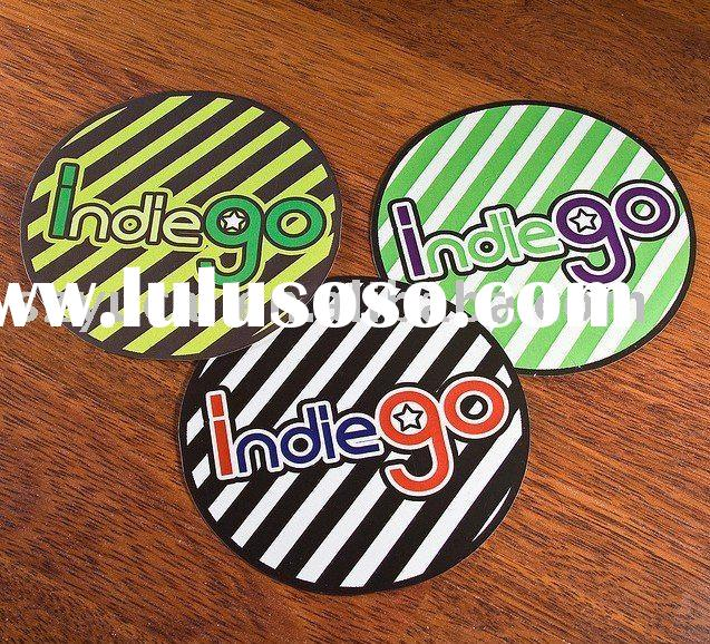 customized die cut colorful label sticker