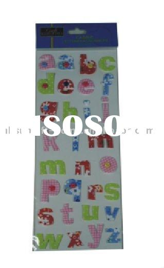 fabric letter wall sticker