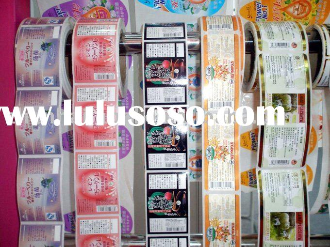 food sticker/condiment label/roll label/food  tags and labels/custom sticker