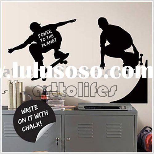 large skateboard sport design vinyl wall stickers