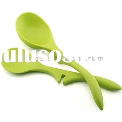 11-inch New Design Lazy Green Silicone Scoop with a notch