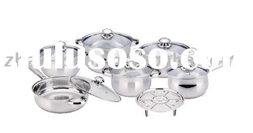 12 pieces stainless steel cookware set(camber)