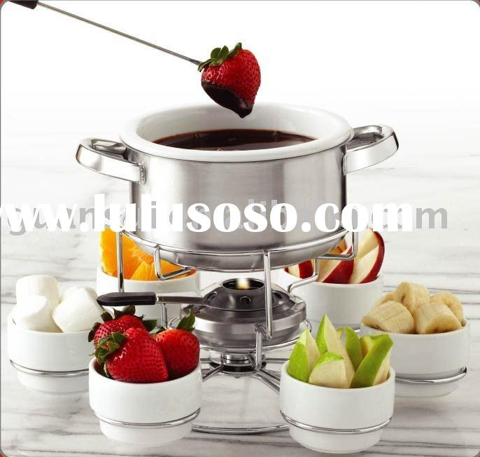 17 Pcs Stainless Steel Fondue Set