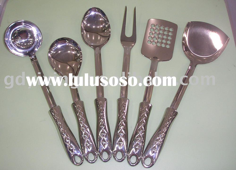 6pcs stainless steel kitchenware