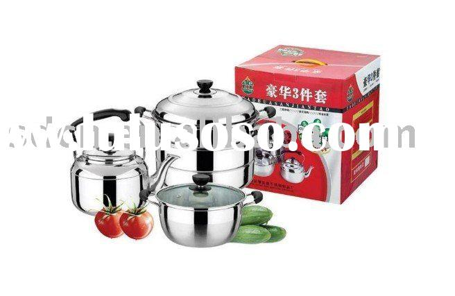 7 Pieces Luxury Stainless Steel Cookware Set