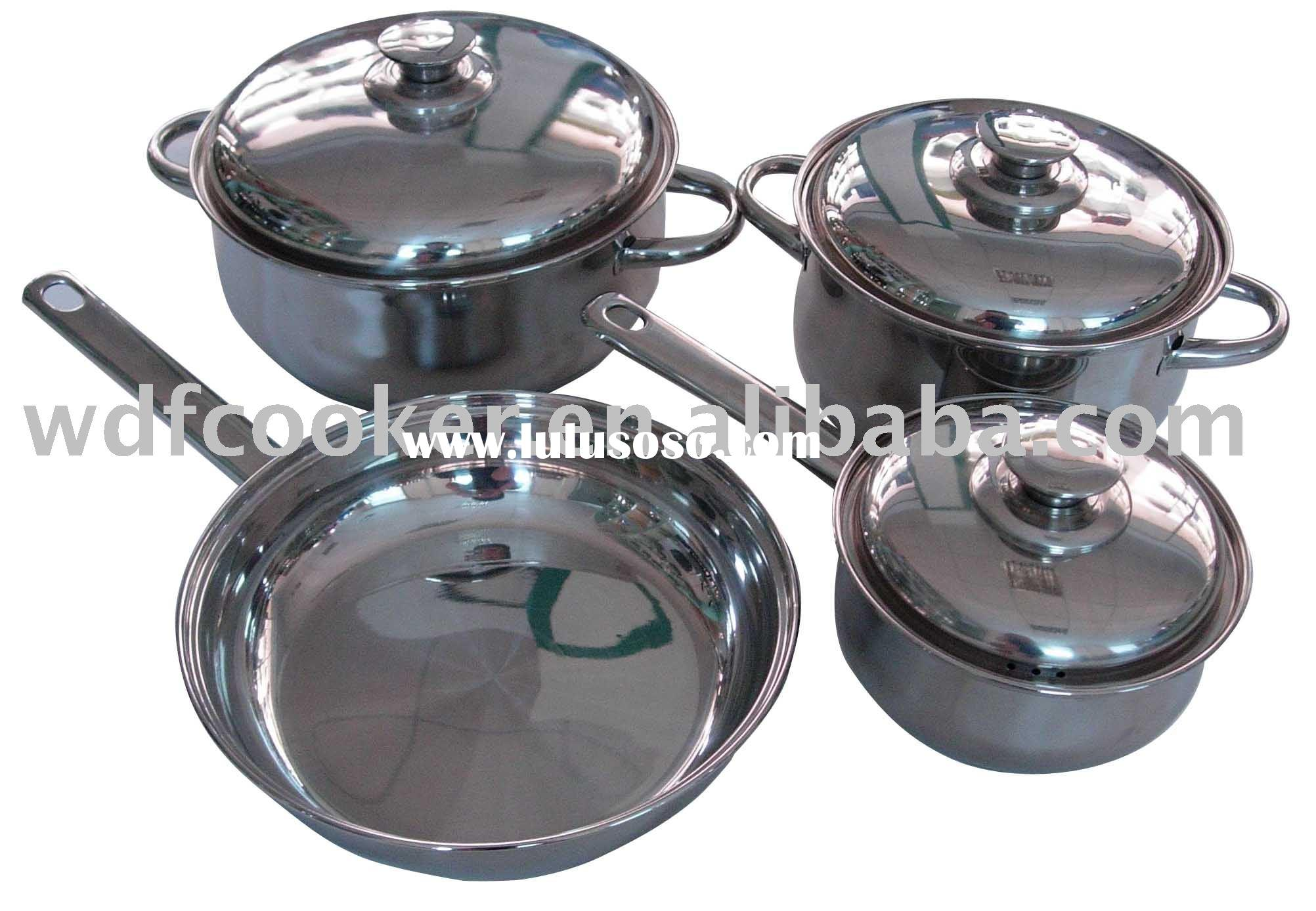 7 pcs stainless steel cookware