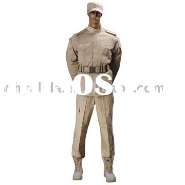 ACU 2 Terylene/Cotton 65/35 Khaki Military Uniform military officer uniforms