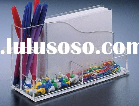 Acrylic Notepad Holder,Perspex Memo Pad Holder,Plexiglass Desktop Organizer