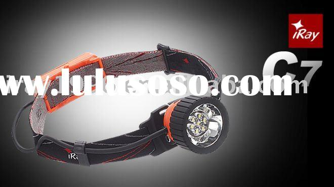 C7 - 7*LEDs camping and hiking headlight