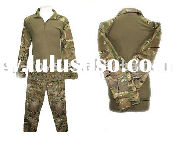 Combat Shirt & Pants w/ Pads Set Uniform (Multicam) BDU