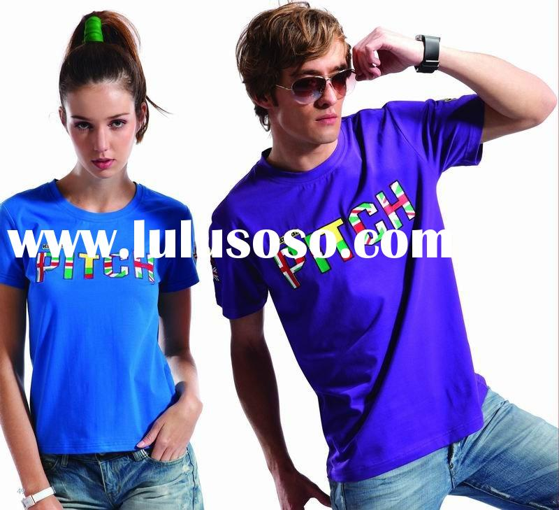 Guangzhou 2011 Summer newest designed plain printing cotton t shirt sportswear