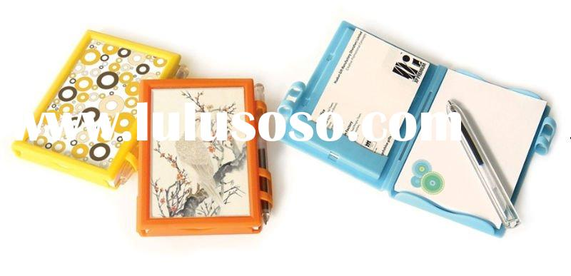 Memo Pad with plastic cover and pen GF-NP001