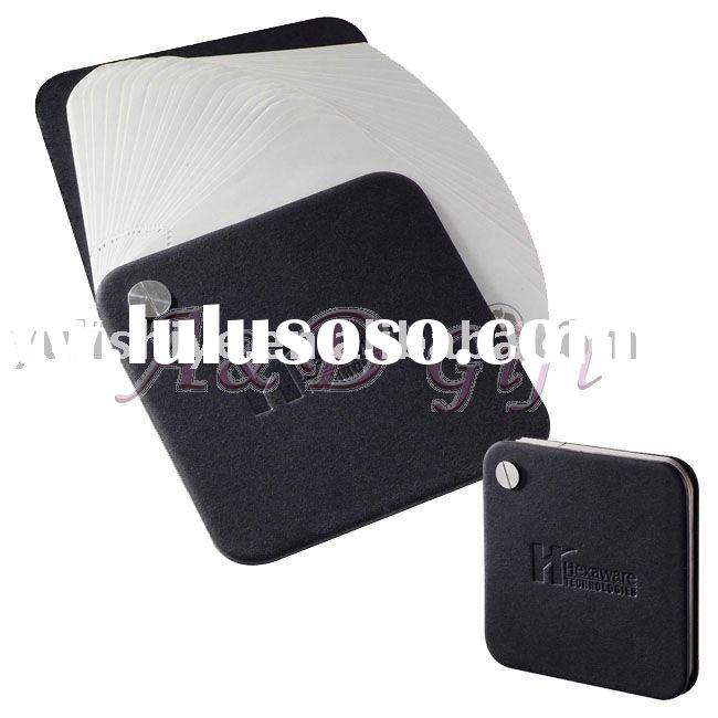 Memo pad with leather cover notebook jotter pocketbook