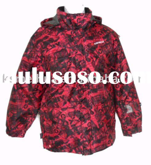 Mens Red Camouflage Jacket/Camping Wear