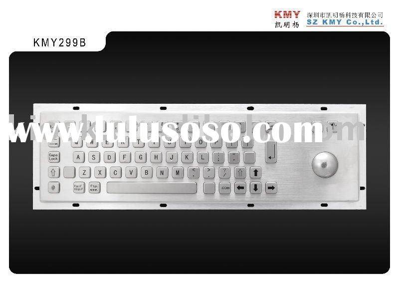 Multimedia keyboard with trackball and numeric keypad