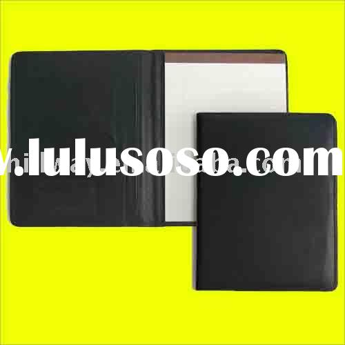 NEW GENUINE COWHIDE LEATHER LETTER WRITING PAD PAPER JOTTER HOLDER