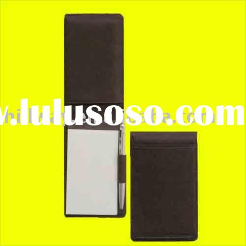NEW GENUINE COWHIDE LEATHER MEMO JOTTER PAD HOLDER