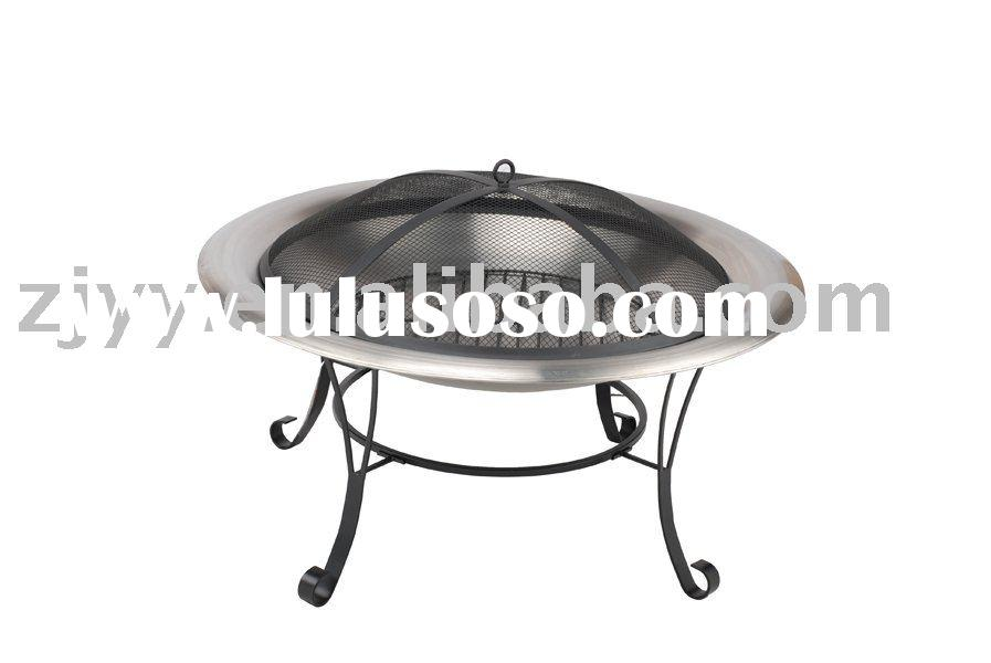 Patio 30-inch stainless steel firepit