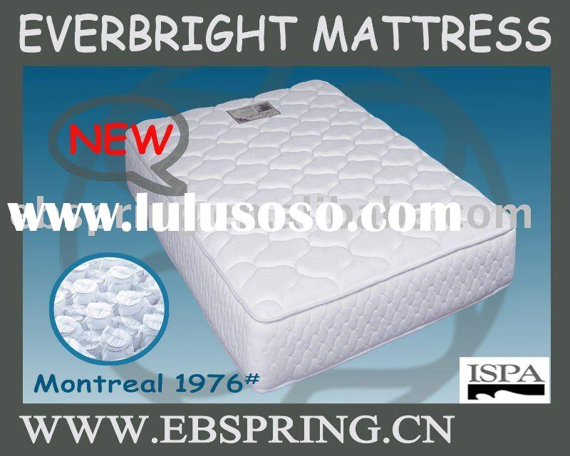 Pocket Spring mattress /ticking+foam+pad+inner spring and one side