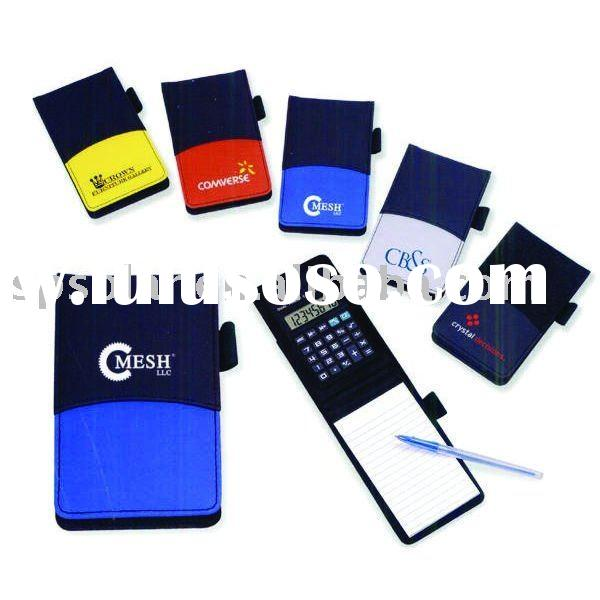 ST4013 foldable leather memo pad calculator