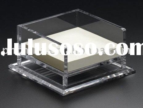 Simple design acrylic memo holder,pad holder,
