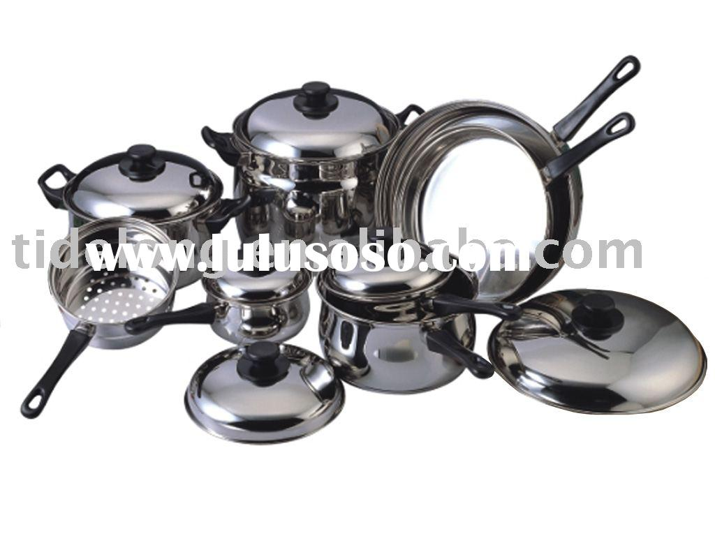 Stainless Steel 14 Pcs Cookware Set