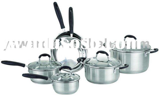 Stainless Steel Cookware Set 10-Pc (YHB-006X)
