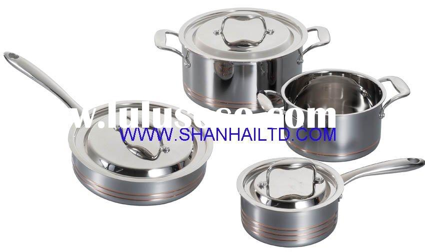 Stainless steel 5ply cookware set SC628